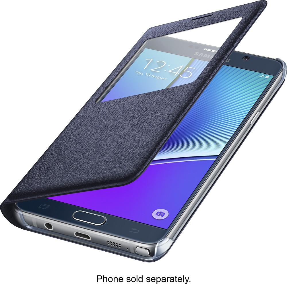 new arrival f6377 33c5b SAMSUNG S VIEW NOTE 5 BLUEBLACK